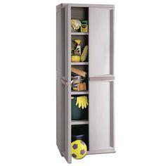 Sterilite 01428501 4 Shelf Utility Plastic Storage Cabinet - Walmart.com