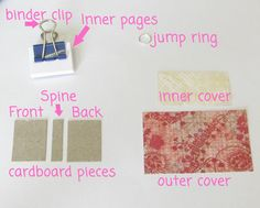 Learn how to make a mini book necklace using scrapbook paper and cardboard from cereal boxes.  No sewing required in this easy DIY craft!