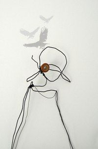 Based at Unit Twelve Gallery, Julia is an embroidery artist using traditional hand stitch techniques with a contemporary combination of wire and print to illustratively explore narrative. Wire Art Sculpture, Sculptures, A Level Art, Fabric Art, Bird Art, Figurative Art, Art Forms, Textile Art, Fiber Art