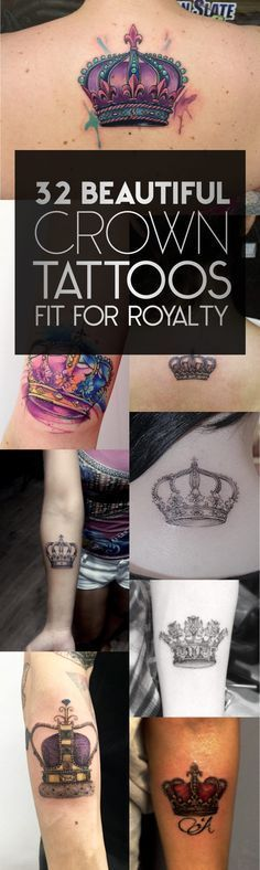 32 Beautiful Crown Tattoos Fit For Royalty | TattooBlend