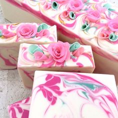 Pink Roses is now curing for Mothers Day.  #sensuallysoaps #soap #soapmaker #coldprocesssoap #artisansoap #handmadesoap #madeinsydney #madeinaustralia #motherday #gift #roses