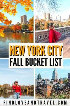 Your New York City Fall Bucket List Worthy list of the best things to do in NYC! Discover the best things to do in NYC during the Fall including photo-worthy spots! Autumn is one of the best times to visit New York! #NYC #NewYork #NYCbucketlist | New York City | New York Travel | NYC travel tips | NYC Fall Bucket list | NYC Fall things to do in | Central Park in Fall | local gems | | Fall in New York | Autumn in NYC | NYC Fall itinerary | Fall photos NYC | Autumn NYC photos North America Destinations, Top Travel Destinations, South America Travel, Europe Travel Tips, Asia Travel, Travel Usa, Nyc Bucket List, New York Travel Guide, East Coast Usa