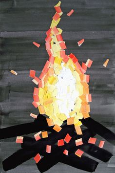 Use concept for Holy Spirit. Romans - Now the God of hope fill you with all joy and peace in believing, that ye may abound in hope, through the power of the Holy Ghost. Fall Crafts For Kids, Art For Kids, Tissue Paper Art, Catholic Crafts, Sea Crafts, Crafts With Pictures, Easy Art Projects, Kids Artwork, Sunday School Crafts