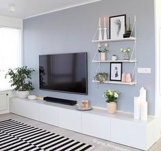 50 Affordable Apartment Living Room Design Ideas On A Budget Home Living Room, Apartment Living, Living Room Designs, Living Area, Living Room Paint, Living Room Inspiration, Home Interior Design, Home Decor, Rack