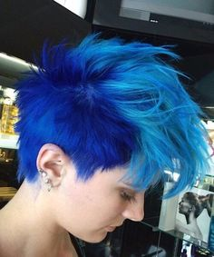 Pixie haircuts are great and newest short hair trends. By the way, you can use different short hair color ideas easily. Now we collect 10 New Blue Pixie Cut. Hair Color Blue, Cool Hair Color, Short Hair Cuts, Short Hair Styles, Short Blue Hair, Beautiful Hair Color, Haircut And Color, Funky Hairstyles, Scene Hairstyles