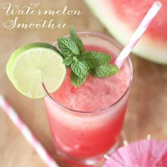 A Favorite Recipe: Watermelon (& Lime) Smoothie