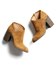 Stitch Fix Fall Stylist Picks: Cognac Suede Heeled Bootie