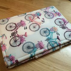 Bicycles and flowers tablet or phone case.