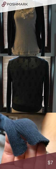 Embroidered Cardigan with Pockets In good condition, small split on right sleeve, as pictured. American Eagle Outfitters Sweaters Cardigans