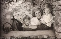 """Princess Diana with """"Her Boys"""" Prince Harry and Prince William [who is seriously eyeing a pony almost in the photo!!]!!"""