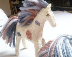 Kindergarten, Blue Horse, Mane N Tail, Appaloosa Horses, Natural Toys, Baby Toys, Role Play, Felt Toys, Felt Animals