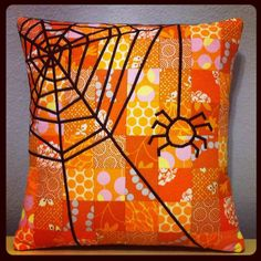 Quilted Halloween Pillow by becca faye, via Flickr