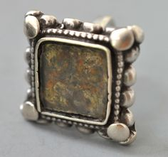 Silver ring with painting under glass Rajasthan India (private collection Linda Pastorino)