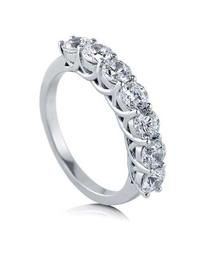 Wedding Rings 2.00 carat 7-Stone Unique Diamond Wedding Rings in 14k White Gold