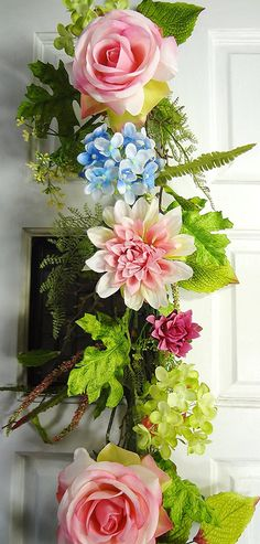 6' Dahlia/Rose/Hydrangea Garland - Pink * Want to know more, click on the image.