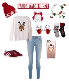 """""""Christmas"""" by cate-boston24 on Polyvore featuring Givenchy, WithChic, Casetify, Sixtrees, adidas and Victoria's Secret"""