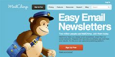 Email newsletter provider MailChimp stands out with their use of big, bold typography and large, colourful backgrounds for each page. The use of colour is bold without being too overwhelming, and complements the large type nicely