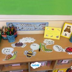 A fantastic resource, useful to support independent writing tasks that you may set for your children in this topic area. Writing Station, Writing Area, Cool Writing, Phonics Activities, Writing Activities, Preschool Math, Eyfs Classroom, Montessori Classroom, Classroom Ideas