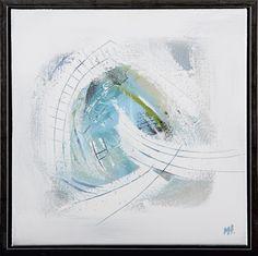 """VENT PÅ VINDEN"".Maleri 40 x 40 cm.Malt med akryl på høykvalitets bomullslerret.Blindrammetykkelse 2 cm.NB! Selges innrammet, med enkel sort sveveramme.""WAIT FOR THE WIND"".Painting 40 x 40 cm.Painted with acrylic on high quality cotton canvas.Thickness of stretcher 2 cm.PS. This painting is sold in black frame."