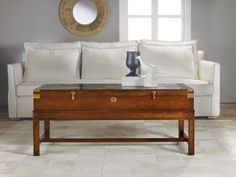 Modern History Home Bagatel Cocktail Table with Mahogany Finish and Brass Accents-ON BACKORDER UNTIL JANUARY 2016