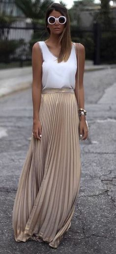 summer outfit top + maxi skirt