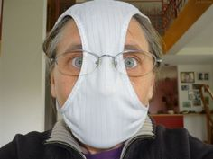 Have you seen the latest DIY flu mask   ?  I just had to share!!!  LOL!