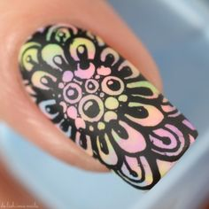 Moo Moo Signatures Rainbow Flowers Bath Nail Art – De-Lish-ious Nails