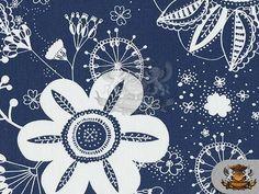 Waterproof Printed INDOOR/OUTDOOR Flower Power by FabricEmpire, $16.99