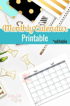 Get organized with this editable monthly calendar printable and never miss an appointment again, plan your month so you don't miss the important stuff. Editable Monthly Calendar, Calendar Printable, Stem Learning, Organize Your Life, Homeschool Curriculum, Getting Organized, Household Organization, Life Organization, Organizing Ideas