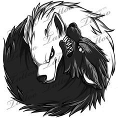 New tattoo designs wolf yin yang ideas - New tattoo designs wolf yin yang ideas You are in the right place about New tattoo desig - Wolf Tattoos, Tribal Wolf Tattoo, Yin Yang Tattoos, Arm Tattoos, Body Art Tattoos, Gemini Tattoos, Tattoo Art, Arte Yin Yang, Yin Yang Art