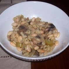 Barley and Cannellini Beans with Mushrooms @ allrecipes.com.au