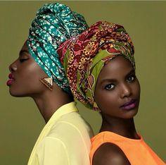 African prints in fashion. Hair wraps turbans ~African fashion, Ankara, Kente, kitenge, African women dresses, African prints, African men's fashion, Nigerian style, Ghanaian fashion ~DKK