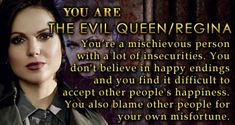 Just another test, love every one of them! Got Regina, again  #evilregal #OUAT
