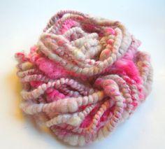Sweetheart Handspun Art Yarn, Coily Ply, Mohair, Teeswater