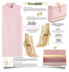 """box clutch"" by nata91 ❤ liked on Polyvore featuring RED Valentino, Valentino, Sigerson Morrison, Topshop, Uno de 50, women's clothing, women's fashion, women, female and woman"