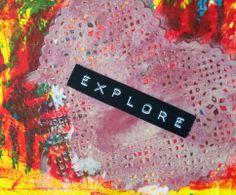 Explore Postcard by Kel, of Soul dare, made for iHanna's DIY Postcard Swap spring 2014 #mixedmedia #exploring