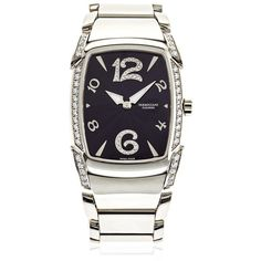 Parmigiani Fleurier Women Kalpa Donna 34.8mm Watch ($10,630) ❤ liked on Polyvore featuring jewelry, watches, white gold, water resistant watches, quartz movement watches and parmigiani watches