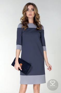 Стильное платье свободного кроя можно купить на сайте дизайнера   Skazkina