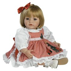 boneca tipo bebe reborn adora com 4 vestidos o r i g i n a l