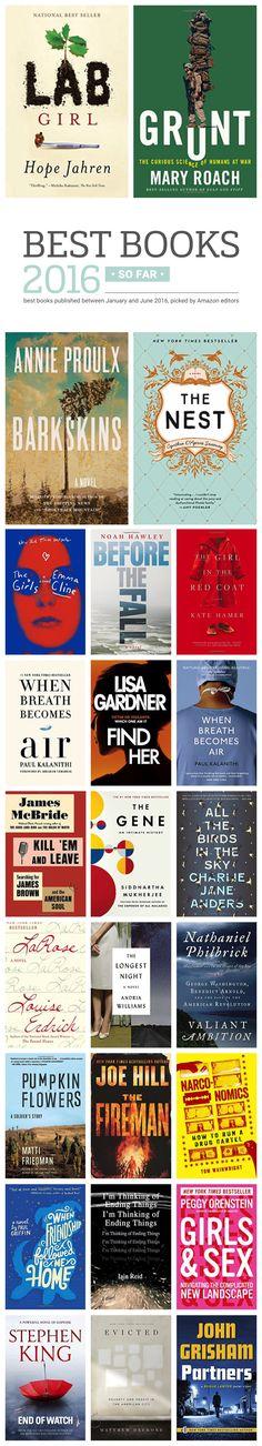 Best books of 2016 so far #infographic