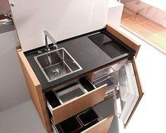 Cucine a scomparsa, Mini Cucine monoblocco   Cucina, Small spaces ...