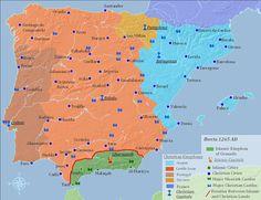 Islamic Spain and the Reconquista Spain History, European History, World History, Spanish Heritage, Iberian Peninsula, Alternate History, Historical Maps, Photo Journal, History Facts