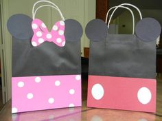 Mickey Mouse/ Minnie Mouse Party Bags by SwatiCreations on Etsy, $16.50