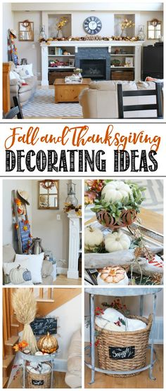 Beautiful fall and Thanksgiving decorating ideas to add warmth and coziness to your home. #thanksgiving #falldecorating