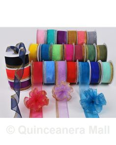 "Quinceanera Mall - 1 1/2"" Pull Organza Ribbon #RIB33"