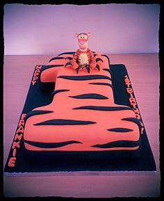 Tigger First Birthday Cake