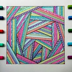 Doodle art - Likes, 54 Comments Mandalas, Zentangles, Doodles ( meli art) on Ins – Doodle art Doodle Art Drawing, Zentangle Drawings, Mandala Drawing, 3d Drawings, Zentangle Patterns, Drawing Flowers, Drawing Ideas, Doodles Zentangles, Doodling Art