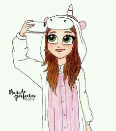 Karol Sevilla Pijama de unicornio