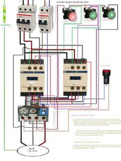 Esquemas eléctricos: INVERSION DE GIRO PASANDO POR PARO