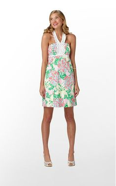 The Isabel Dress in Resort White Mariposa $228 (w/o 3/11/12) #fashion #style #lillypulitzer